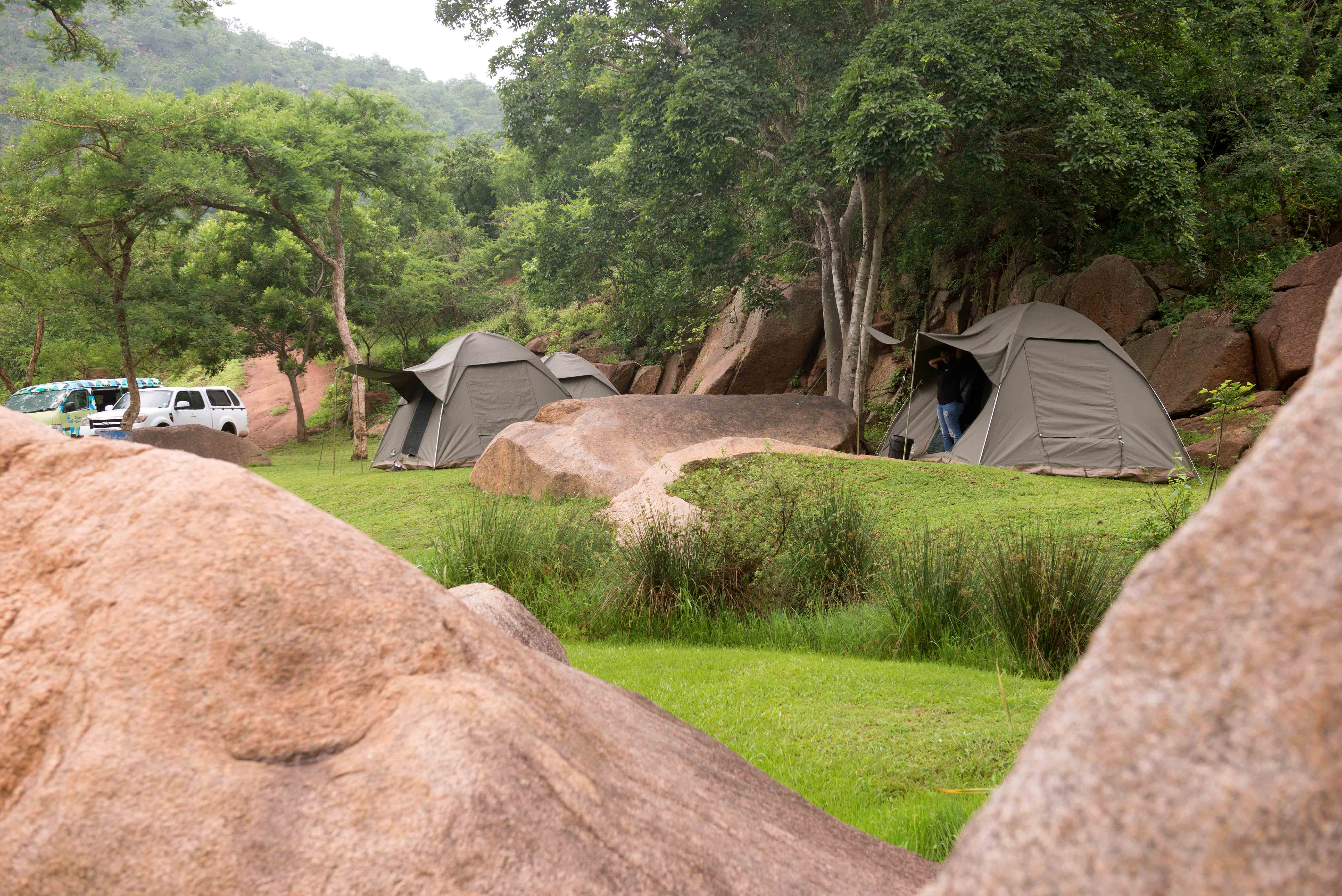 Mqeku camp. Photo courtsey of Val Adamson