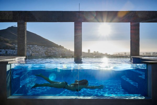 The Silo Hotel rooftop pool
